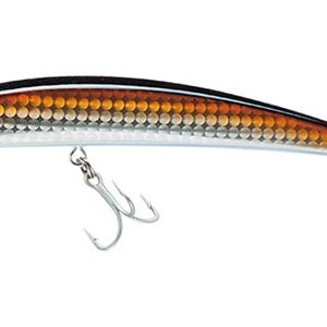 The Yo-Zuri Crystal Minnow suspending lure has great constrast and is good for Barramundi