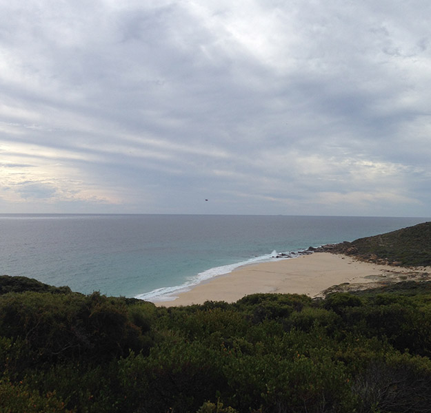 Wilyabrup Beach, good fishing for Salmon from April to June