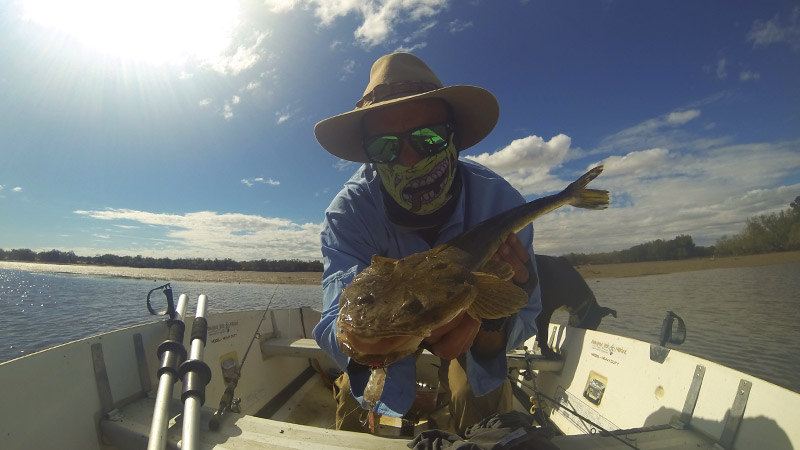 Dusky Flathead from the creek mouth