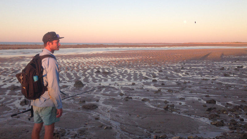 Walking the creeks near Port Smith at low tide produces some good fishing